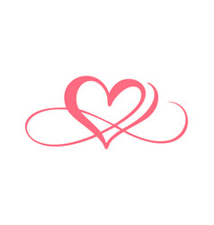 Download Heart love logo with infinity sign design Vector Image
