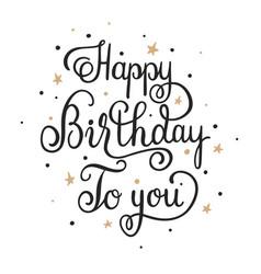 Cursive Happy Birthday Vector Images Over 160