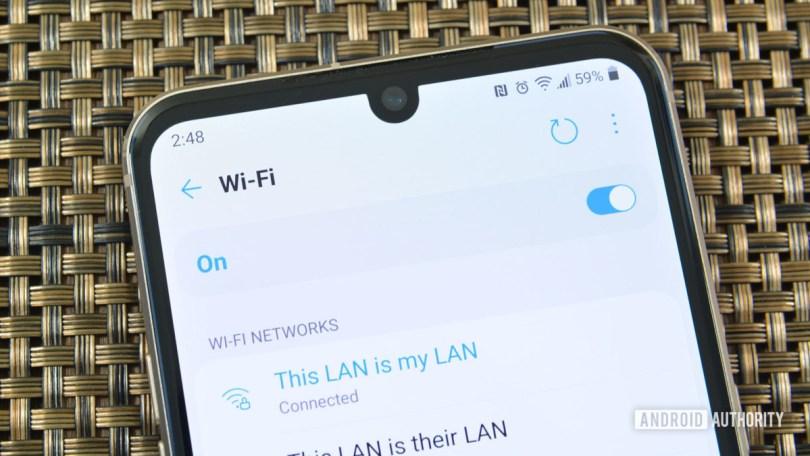 WiFi Settings LG V60