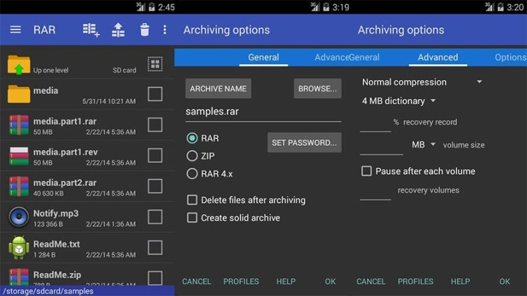 RAR (WinRAR for Android), 13 best zip file extractor for Android