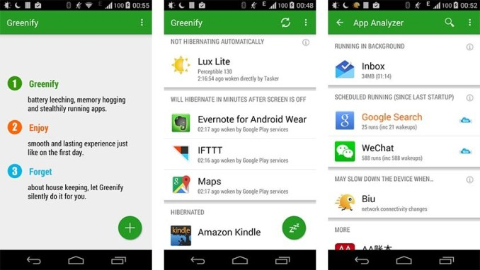 greenify best battery saver apps for android