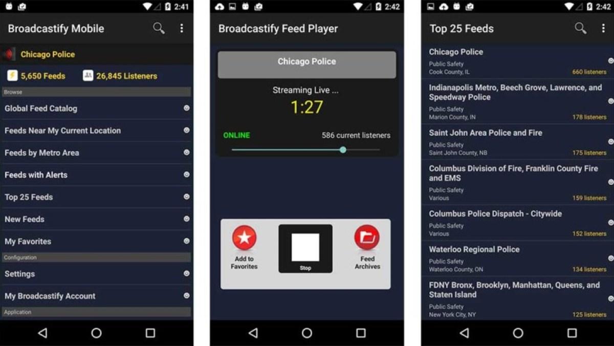 Broadcastify - melhores aplicativos de scanner policial