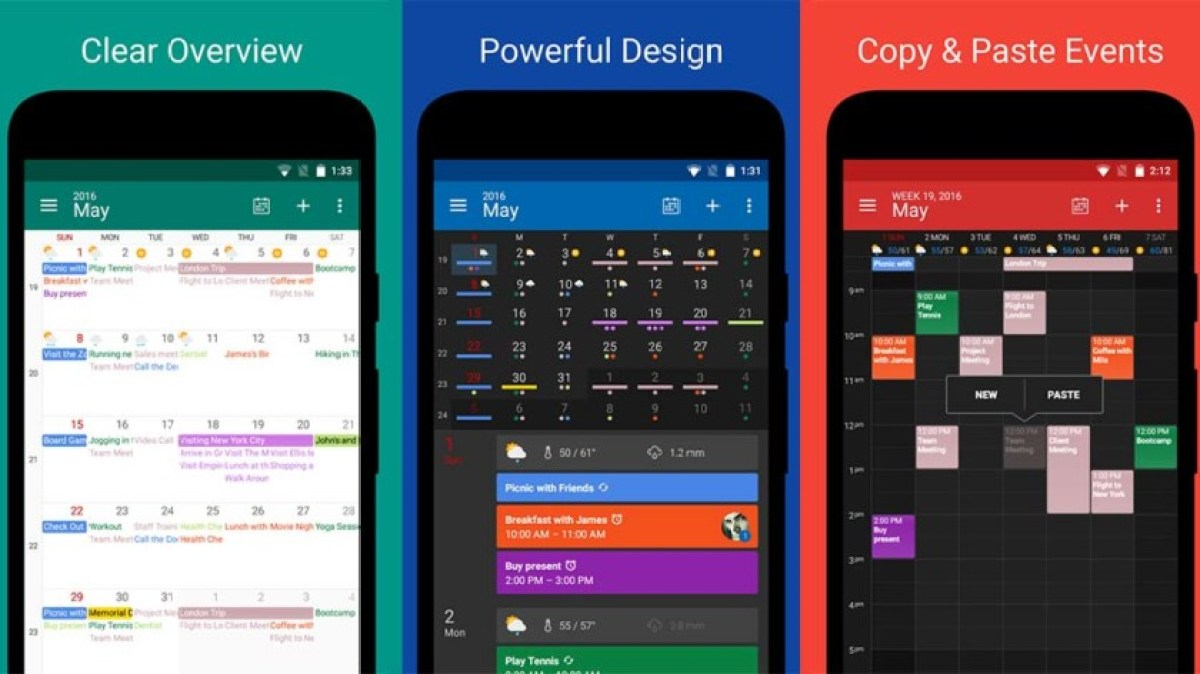DigiCal Calendar - best calendar apps for android