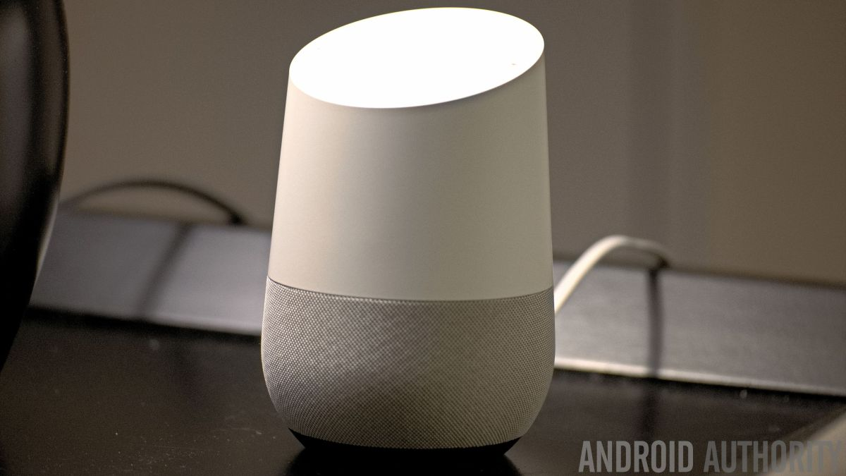 This is a picture of Google Home and also the featured image for the best Google Home apps