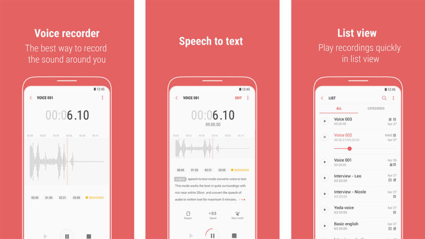 Your phone's native voice recorder apps