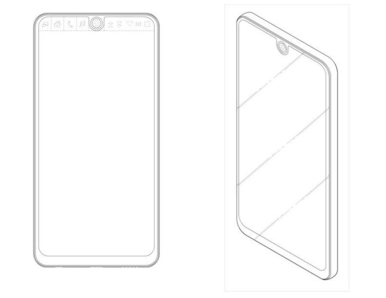 LG smartphone design patent with notch