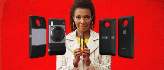 Many mostly useless Moto Mods for modular devices