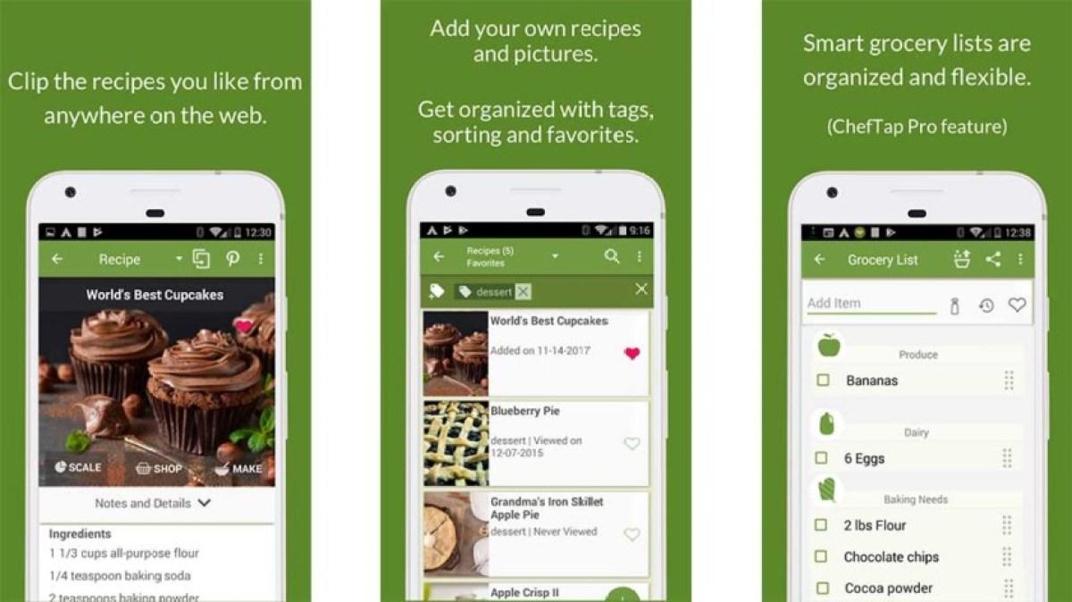Это скриншот ChefTap, одного из лучших кулинарных приложений для Android