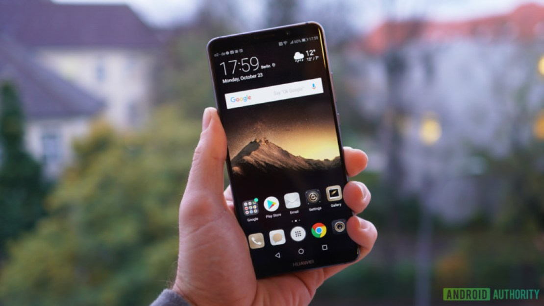 The front of the Huawei Mate 10 Pro.