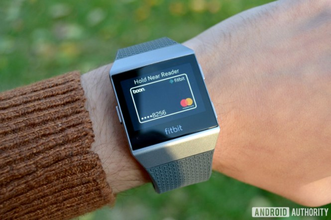 fitbit pay on the fitbit ionic