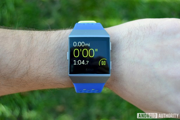 This is a photo of the Fitbit Ionic for the best step counter apps and pedometer apps for android article