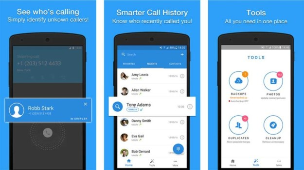 Simpler Contacts and Dialer