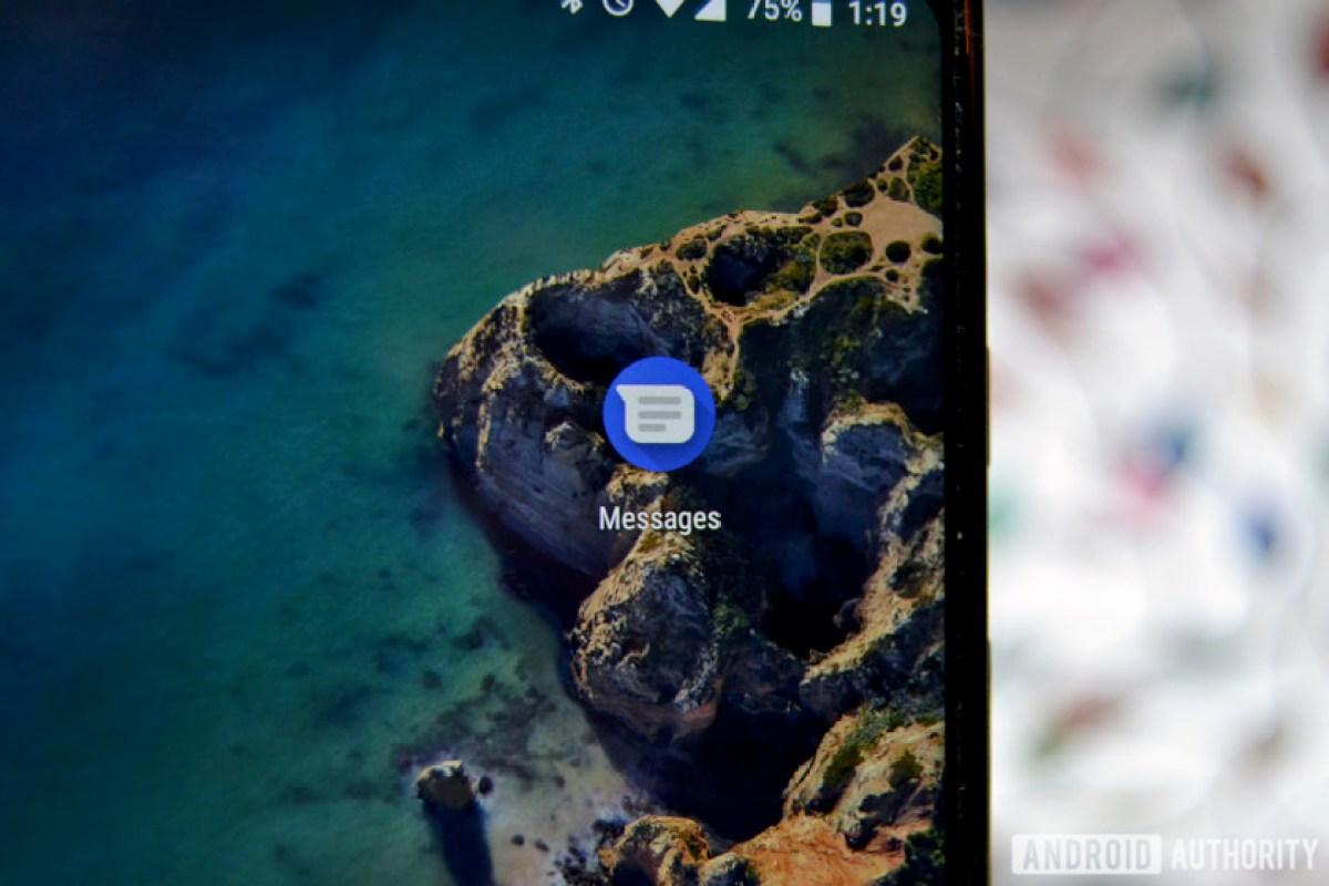 Сообщения Android на Google Pixel 2 XL.