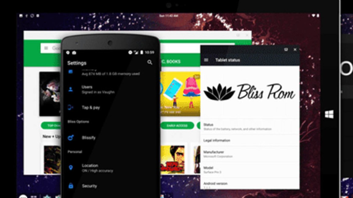 Bliss - лучшие эмуляторы android для пк