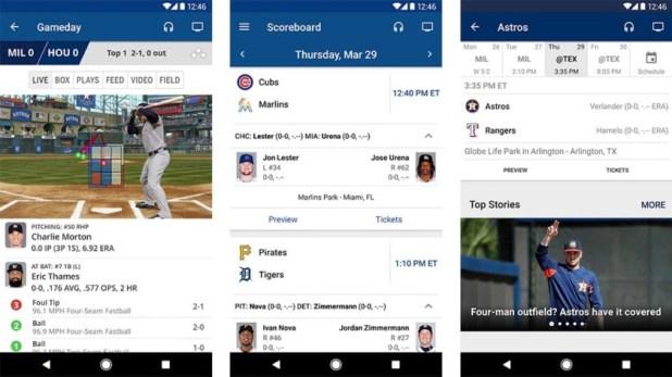Official league apps