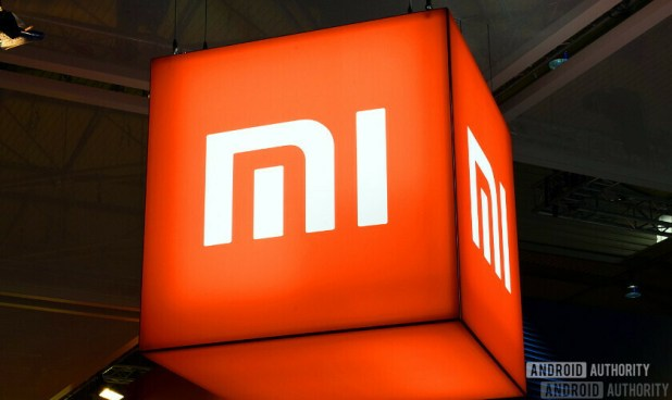 The Xiaomi logo at MWC 2018.