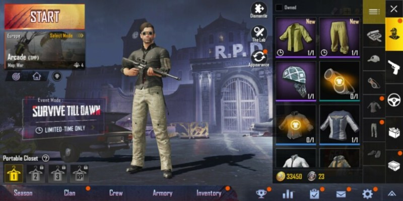 PUBG Mobile change appearance 2019