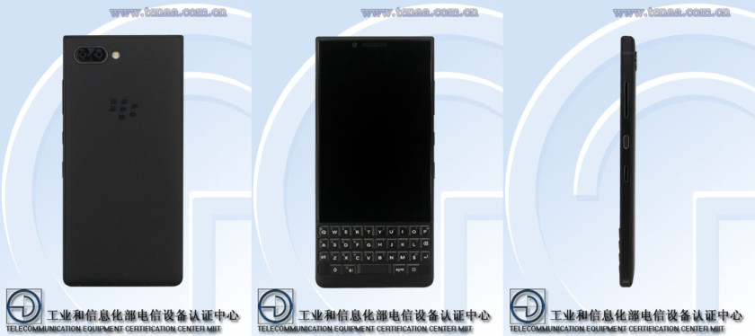 A BlackBerry device on TENAA.