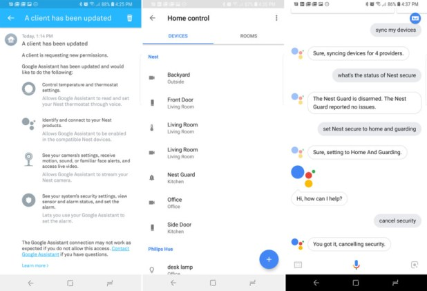 nest secure google assistant setup