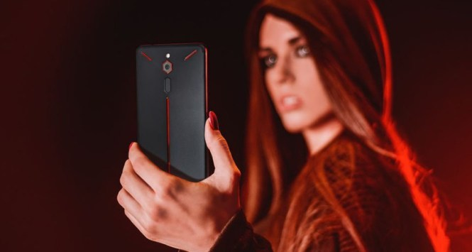 The back of the Nubia Red Magic.