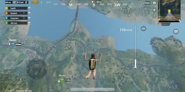 pubg mobile parachute