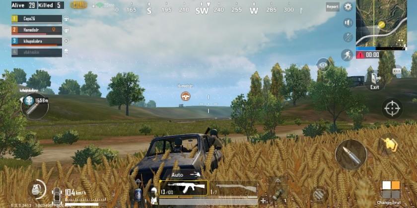 pubg mobile vehicle