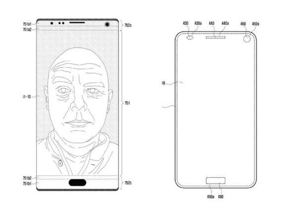 A patent showing an alternative to smartphone notch