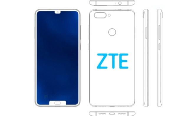 ZTE dual notch phone patent