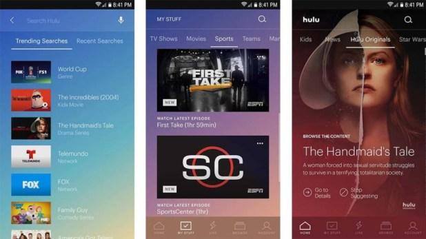 Internet TV (Hulu, Sling TV, YouTube TV, etc)