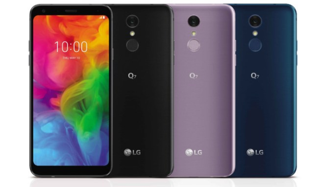 A look at the LG Q7 in various colors.