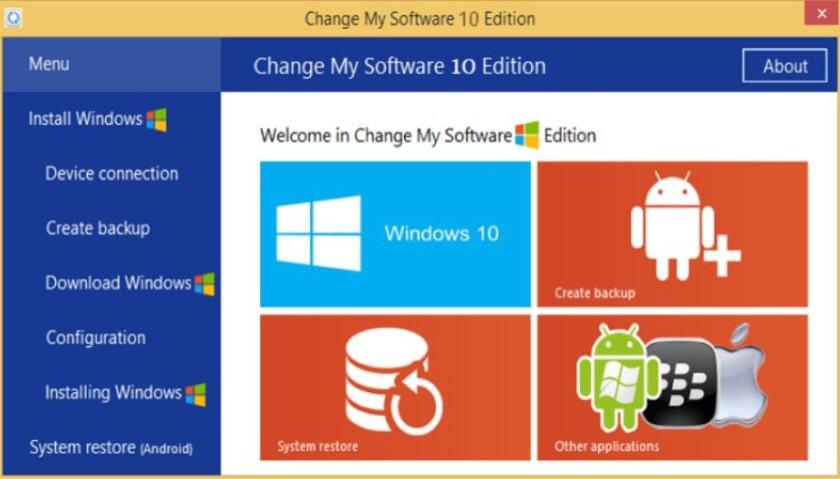 Change My Software - Установить Windows на Android