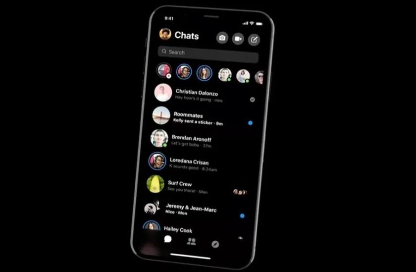 facebook messenger dark mode