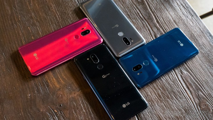 LG G7 ThinQ color variations