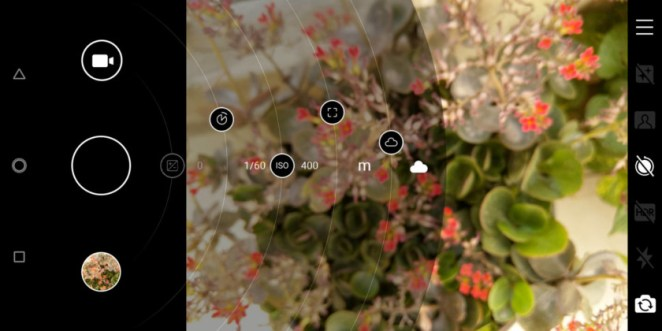 Nokia 7 plus camera interface
