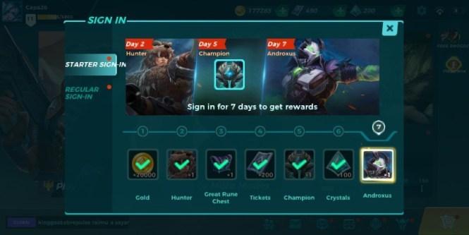 paladins strike sign in rewards