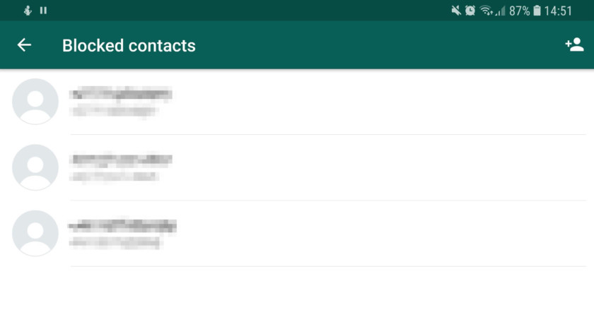 The list of blocked contacts in WhatsApp - whatsapp tricks