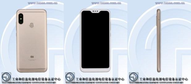 A Xiaomi smartphone with a notch.