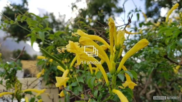 Burst photos as seen on a Samsung phone.