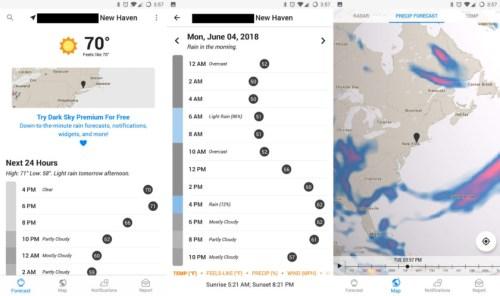 Aplikasi Dark Sky Weather versi Android Tidak Dapat Lagi Di Instal