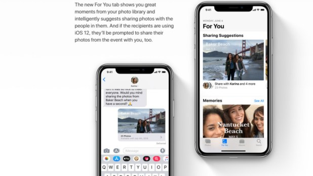 Photo sharing in iOS 12.