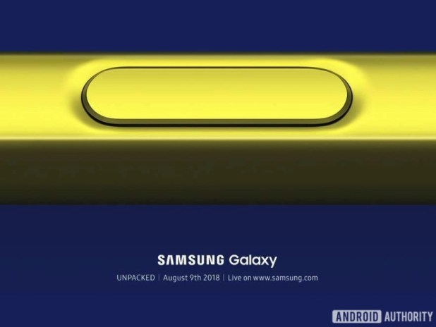 Invitation image for the Samsung Galaxy Note 9 launch.