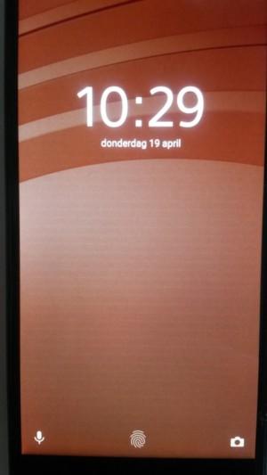 Stripes on an Xperia phone.