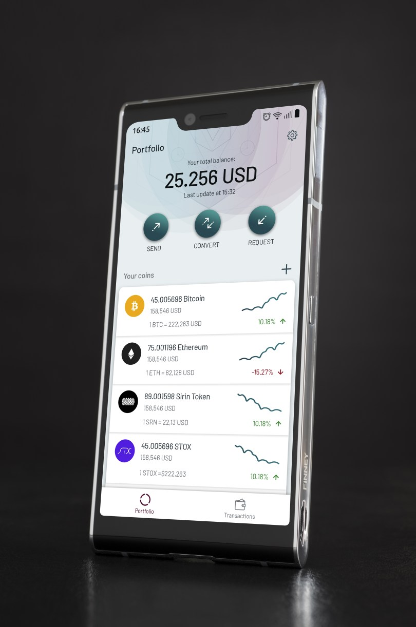 Sirin Labs Finney phone front 1