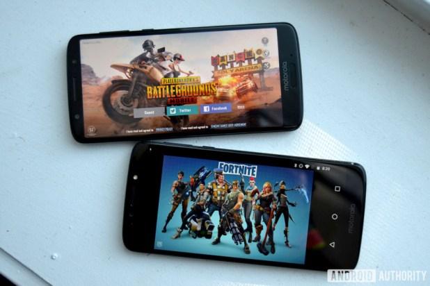 pubg vs fortnite android games