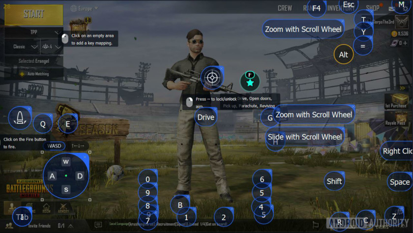 Tencent gaming buddy PUBG mobile customize controls AA