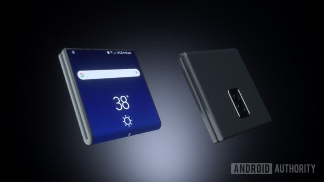 Samsung folding phone design concept.