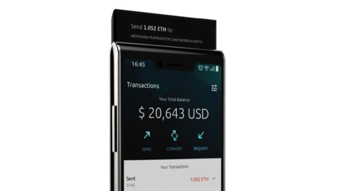 Sirin Labs Finney phone second display render