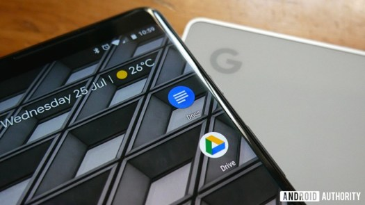 google drive android app icons on a Pixel 2 XL