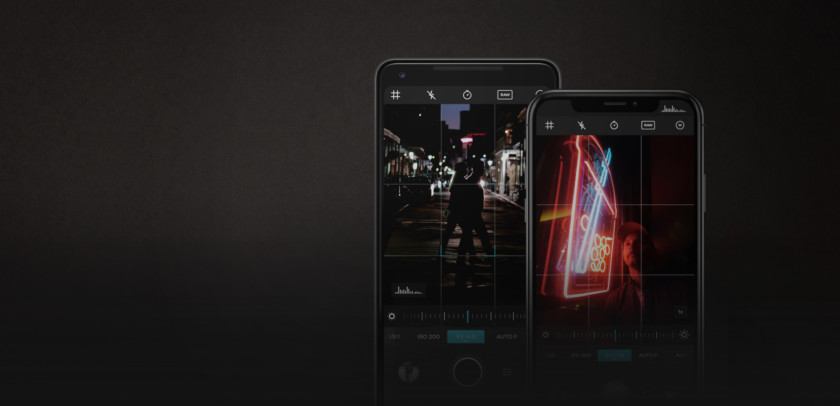 A banner image of an Android phone and an iPhone using the Moment app.