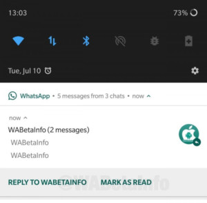 Mark as read functionality in WhatsApp.